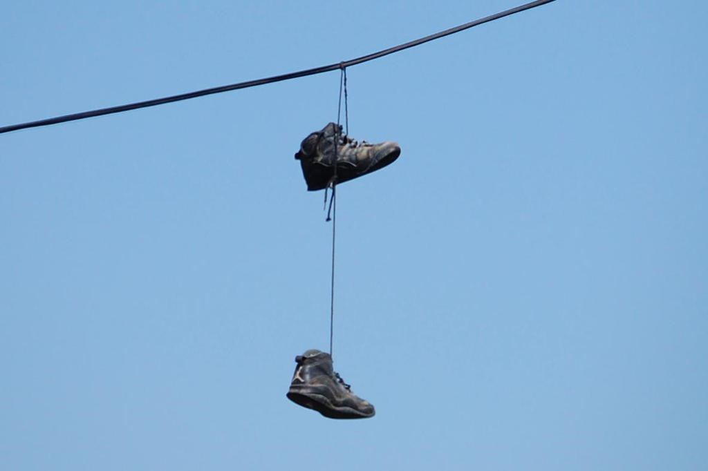 Neighborhood Puzzled By Shoe-Wearing Power Line | The Internet