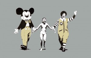 Banksy's death brings a fresh point of view to his artwork. Certainly he is in hell now.