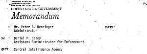 Casey Memo Header 300x111 EXCLUSIVE INTERVIEW: Former DEA Administrator Peter Bensinger