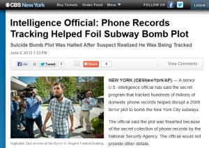 "CBS News claims: ""Suicide Bomb Plot Was Halted After Suspect Realized He Was Being Tracked"""