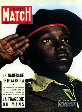 African Soldier Boy on Cover of mid-'50s Imperial French Periodical