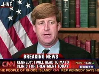 Patrick Kennedy Mayo Clinic after Cark Wreck Former Rep. Patrick Kennedy takes Personal Drug Abuse Battle Public