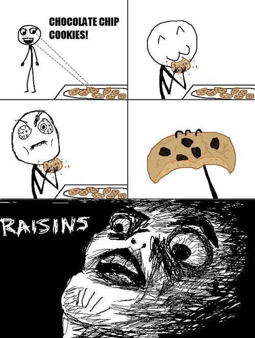 Raisins The official death of the rage comic