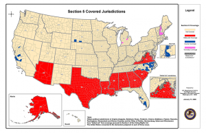 Section 5 covered jurisdictions1 300x194 Yes, Chief Justice Roberts, the South is More Racist