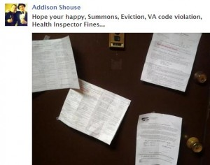 addison 300x236 Trick evicted, fined, and summoned to court