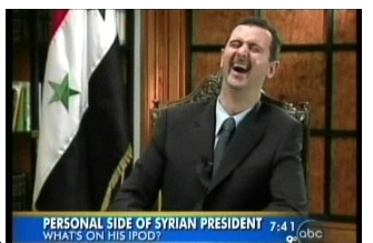 bashar al ipod Murderous Syrian Leader Just Wants Citizens To See Things His Way