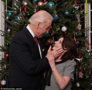 'Woman 3' tries to fight off her attacker, Joe Biden in this disturbing 2014 photograph.