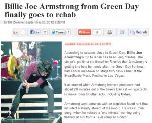 billiejoe 300x242 Billie Joe Armstrong Kills Rock and Roll