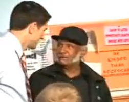 black man meets paul ryan Paul Ryan washes dishes at Ohio soup kitchen and hurries out