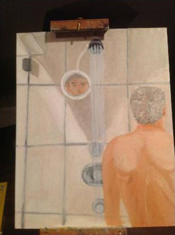 George Bush's shower painting
