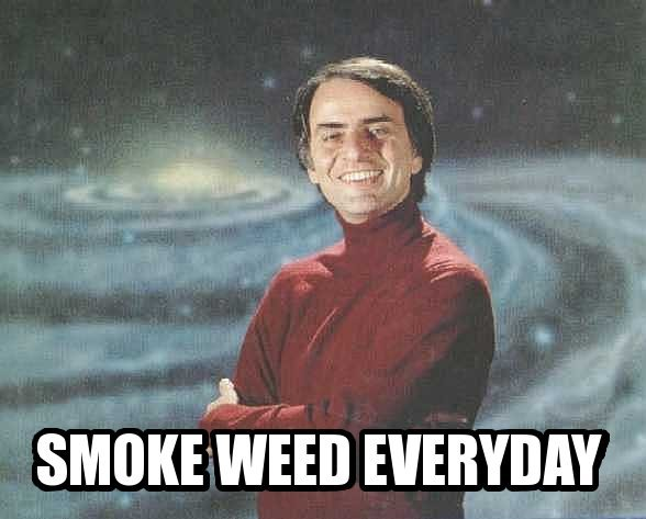 Carl Sagan smoke weed everyday