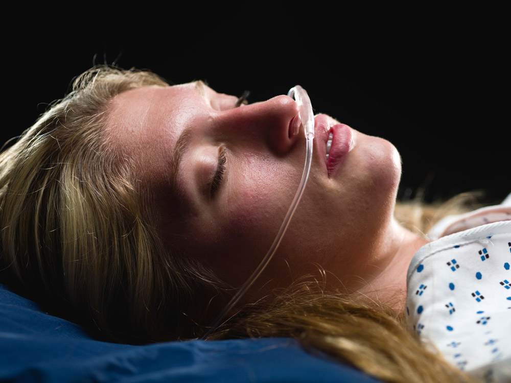 It might look like this woman is in a coma, but she's having the best sleep of her life.