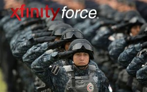 "The Comcast customer service agency Xfinity Force Alpha executes orders to ""kill on sight"" any civilian who resists their fastest in-home WiFi limited time deal."