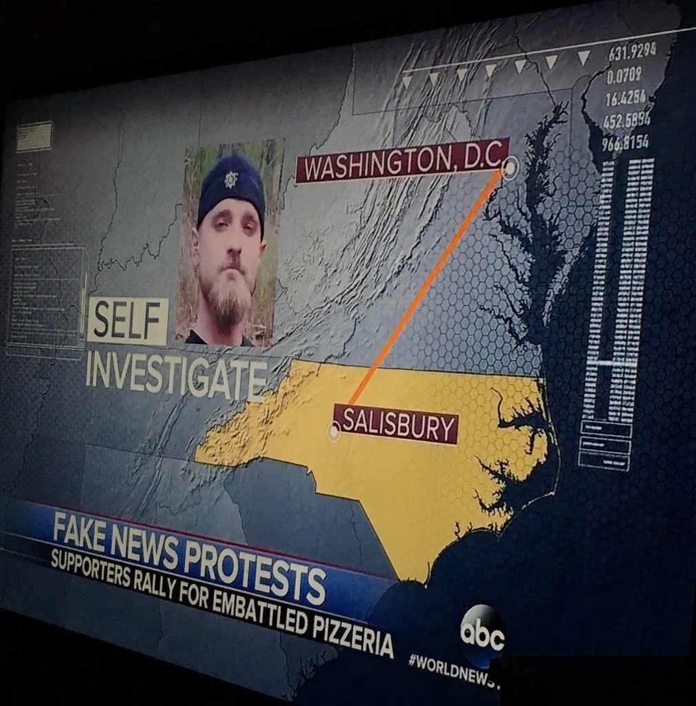 Armed with his real M-16, a North Carolina man self-investigated #PizzaGate after the Fake News Media failed to do so.