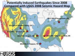 This top secret slide shows earthquakes induced by strategic fracking in the US