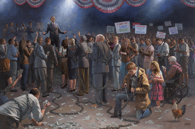 frobama Jon McNaughton: Surreal Political SuperGenius Artist from the Future!