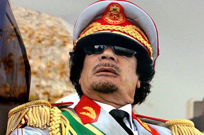 gaddafi in shades