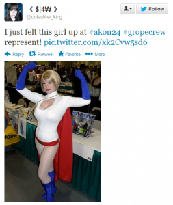 #GropeCrew has highlighted the tense and predatory sexual atmosphere at Nerd Conventions.
