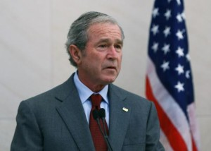 "Former President George W. Bush is upset over the Sony hack, says ""Americans shouldn't be confused about how to respond to a Cyber 9/11"""