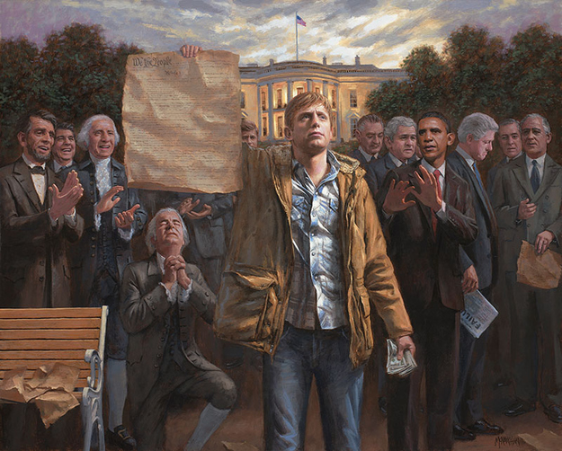 honky Jon McNaughton: Surreal Political SuperGenius Artist from the Future!