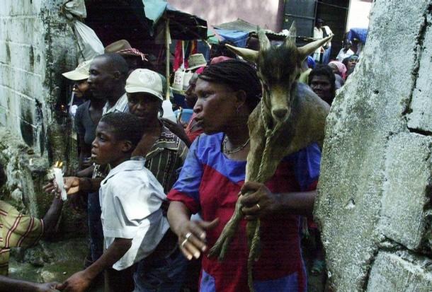 Hungry Haitians sacrifice a hungrier goat (and then eat it)