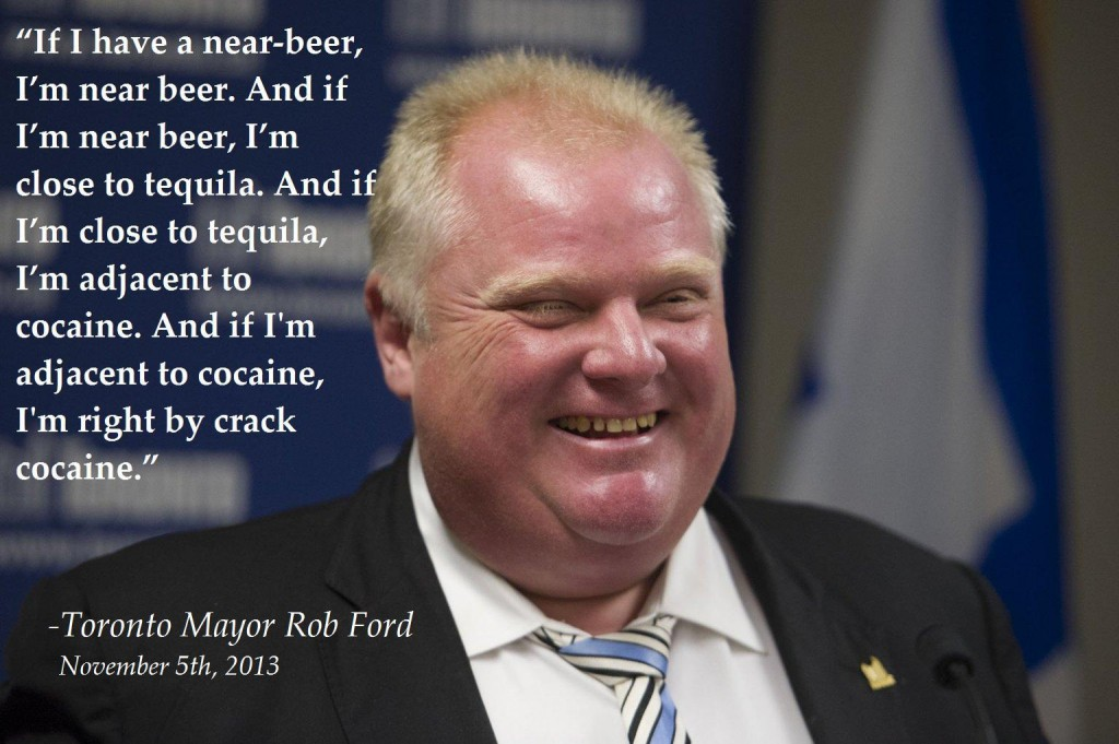Toronto Mayor Rib Ford, on drugs