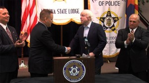 mccain azfop 300x168 Chinga La Migra Tres: The Fraternal Order of Police