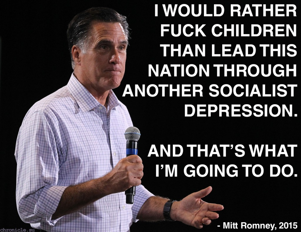 Mitt Romney cancels presidential bid to pursue dreams of underage polygamy