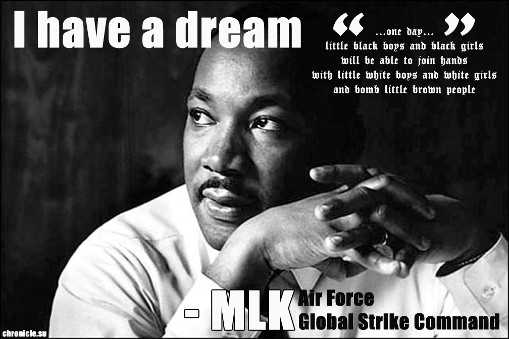 mlk speech US Air Force Global Strike Command Celebrates MLK Legacy of War Promotion