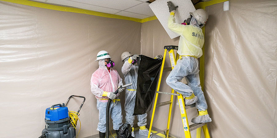 Back to School: Asbestos ceiling and floor tiles are being reintroduced to the Roanoke County Public School system in Virginia.
