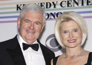 newt gingrich and callista gingrich 300x211 Callista Gingrich is a fucking alien!