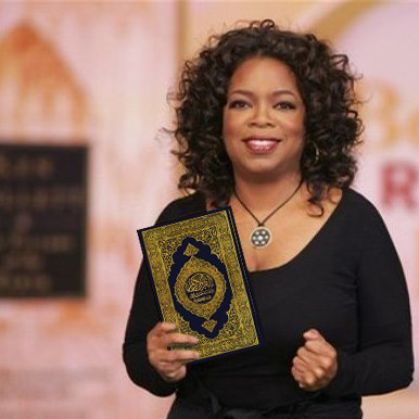 Oprah holds the Holy Quran