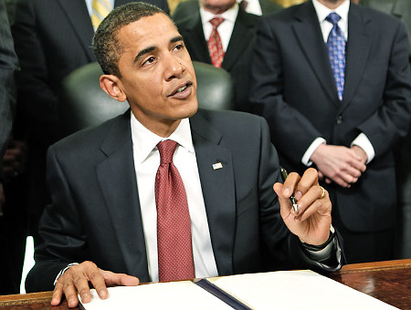 President Obama signs NDAA