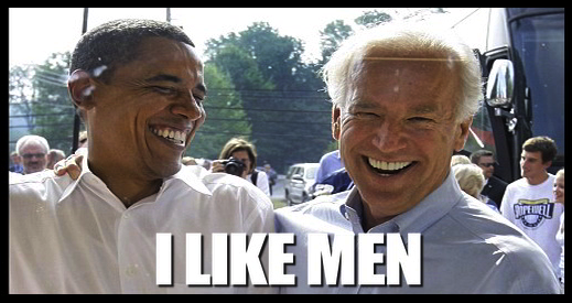 OBAMA BIDEN I LIKE MEN