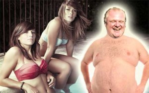 Rob Ford was seen fucking women on the Internet.