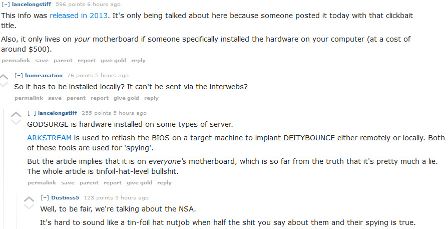 If I had to add anything to this discussion, it would be that 1) certain pieces of hardware purchased online by certain people like to make pit-stops in Northern Virginia for certain unknown reasons, and 2) DEITYBOUNCE should not be on ANYONE's machine.