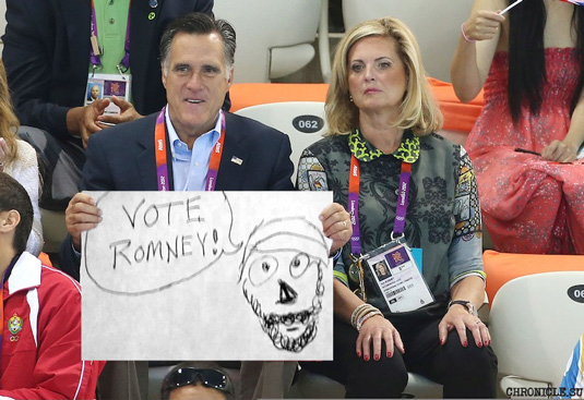 Mitt Romney Draws Cute Picture of Islam Prophet Muhammad