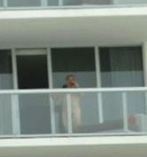 Balcony masturbation