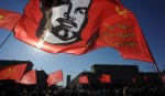 Soviet Russians rally for power in Moscow