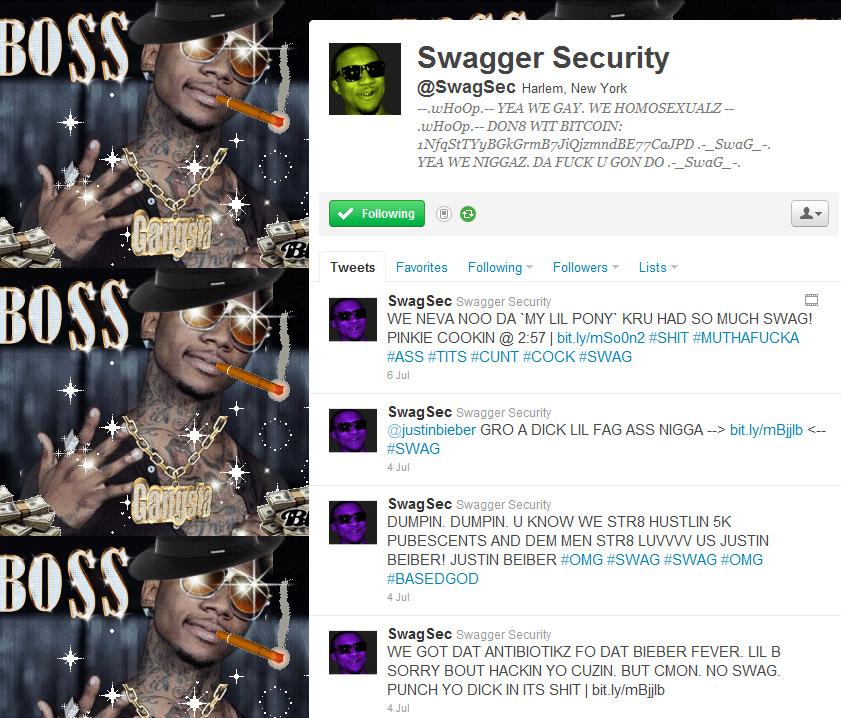 swagsec Cracktivist group SwagSec jump on Justin Biebers dick