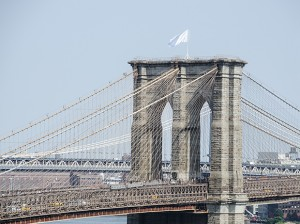 Art Jihad, underground Brooklyn hipster Islamists, takes credit for raising the white flag over Brooklyn Bridge