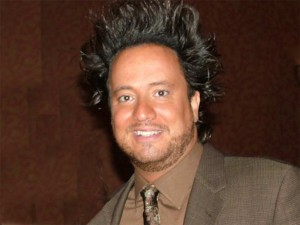 An Alien Space Craft in Hollywood picked up Giorgio Tsoukalos Monday.