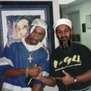 RARE PHOTO: Tupac and a young Osama bin Laden unite in shared distaste for evil-ass white motherfuckers