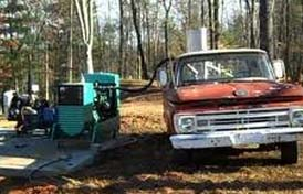 Practical Prepper runs homestead diesel generator on woodgas crossfed from his Ford truck.