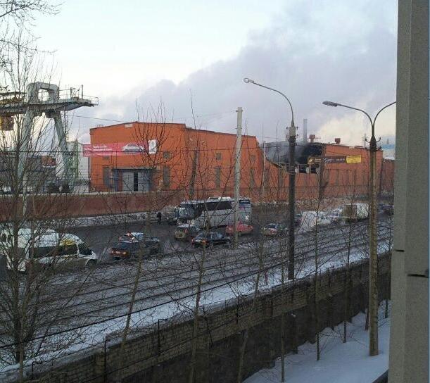 Damaged Zinc Factory in Chelyabinsk
